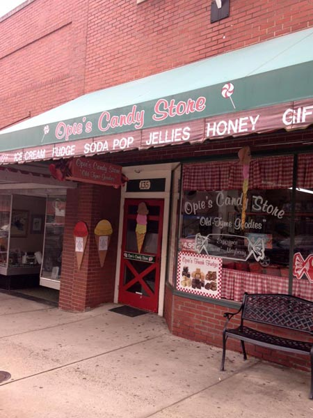 Opie's candy store in mount airy, NC, Andy Griffith Home Town