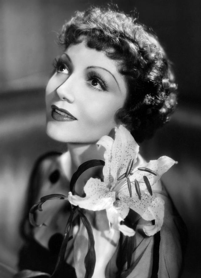 Claudette Colbert, her best side is her left side
