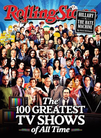 Rolling Stone Magazine Greatest TV Shows of All Time