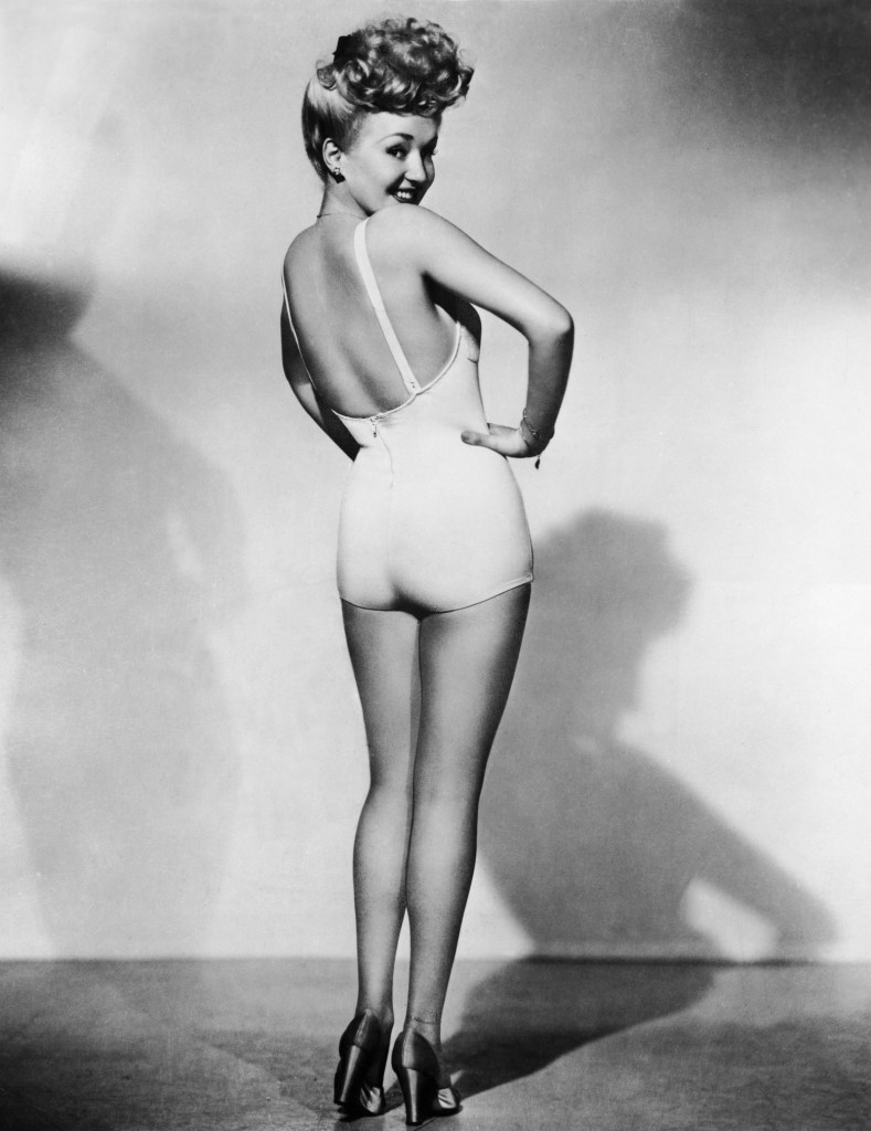 Betty Grable pinup There are actually 2 people in this photo.