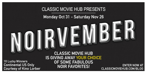 Celebrating Noirvember DVD Giveaway