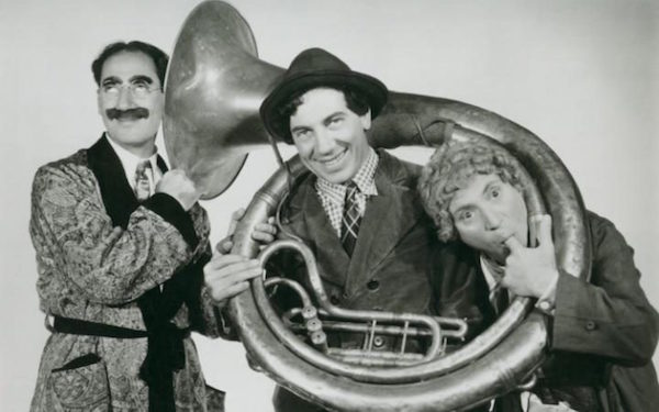 The Marx Brothers with tuba