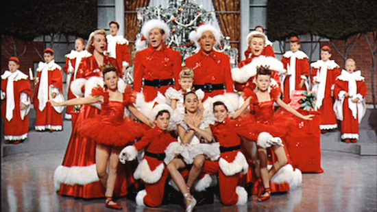 White Christmas, finale, Bing Crosby and cast
