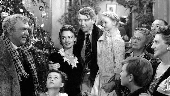 It's a Wonderful Life, last scene, James Stewart, Donna Reed, Zuzu, every time a bell rings