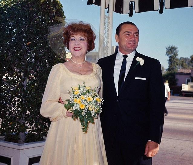 Ethel Merman and Ernest Borgnine at Their Wedding