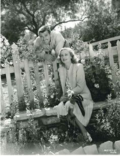 gable and lombard in garden