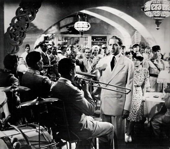 """Casablanca Laszlo Paul Henreid conducting """"La Marseillaise"""""""