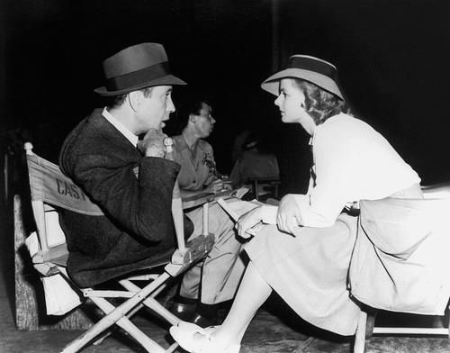 Humphrey Bogart and Ingrid Bergman on the set of Casablanca 1942