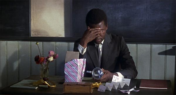 Sidney Poitier, to sir with love, the ending, the decision