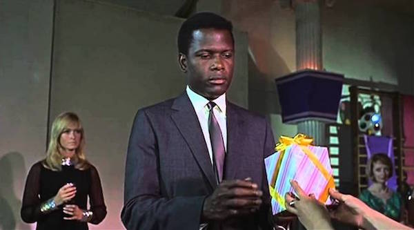 sidney poitier to sir with love ending scene with gift