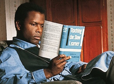 sidney poitier to sir with love, reading teaching the slow learner