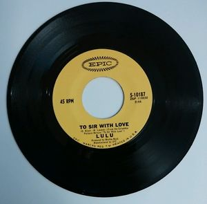 "to sir with love 7"" single by lulu"