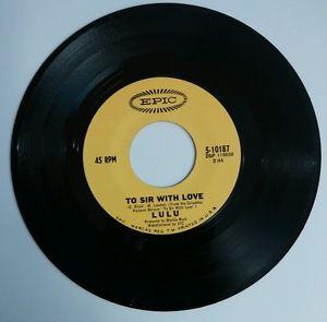 "to sir with love 7"" single by lulu"