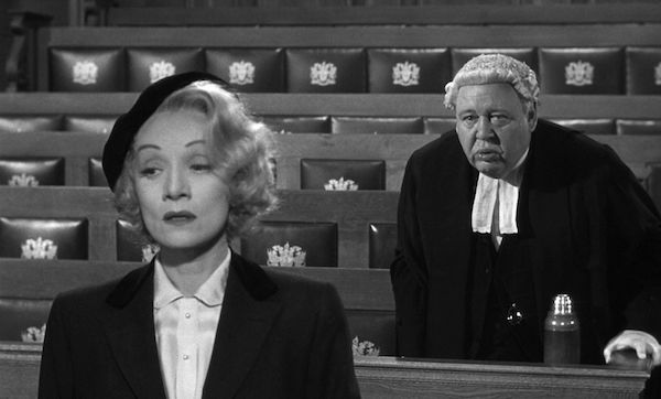 Witness for the Prosecution, Marlene Dietrich and Charles Laughton
