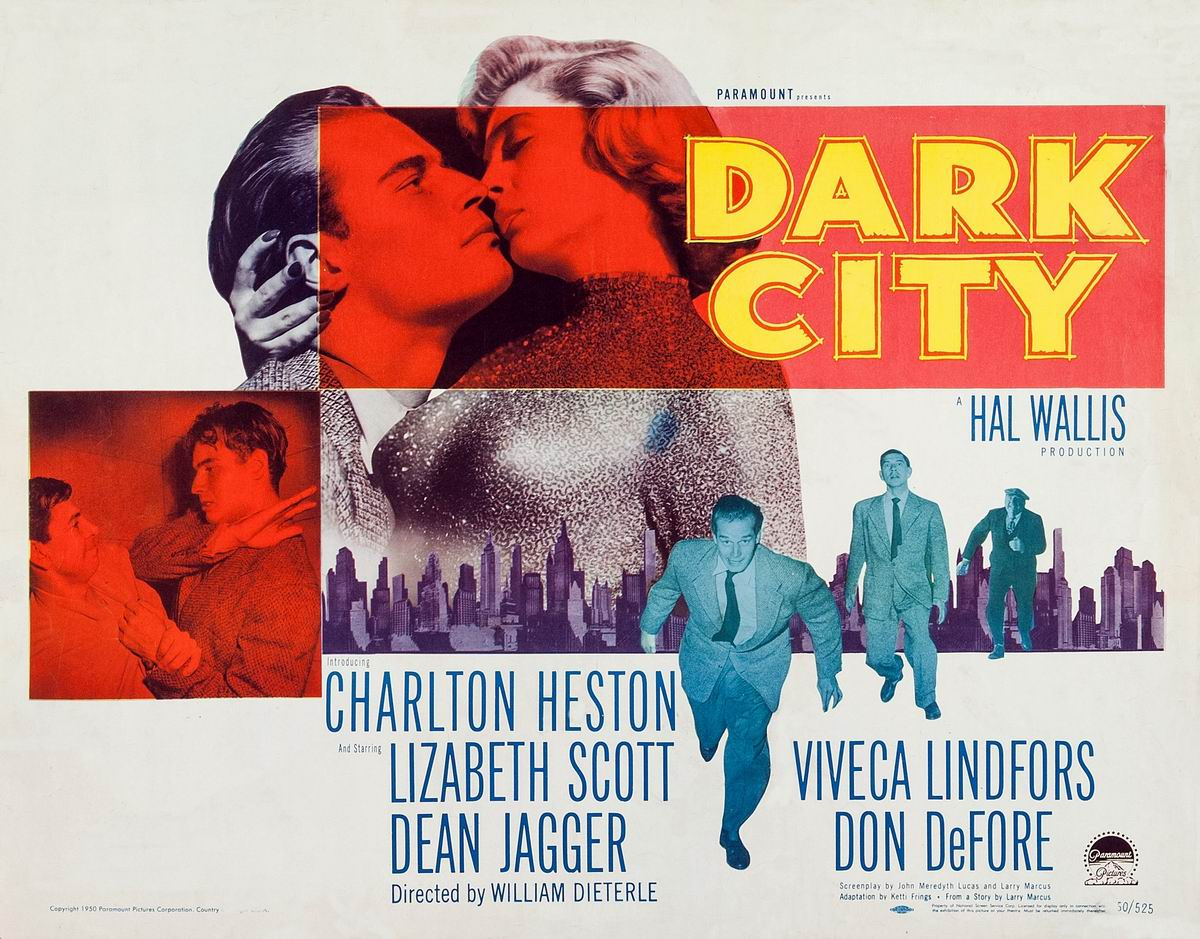 Dark City 1950 promotional poster.