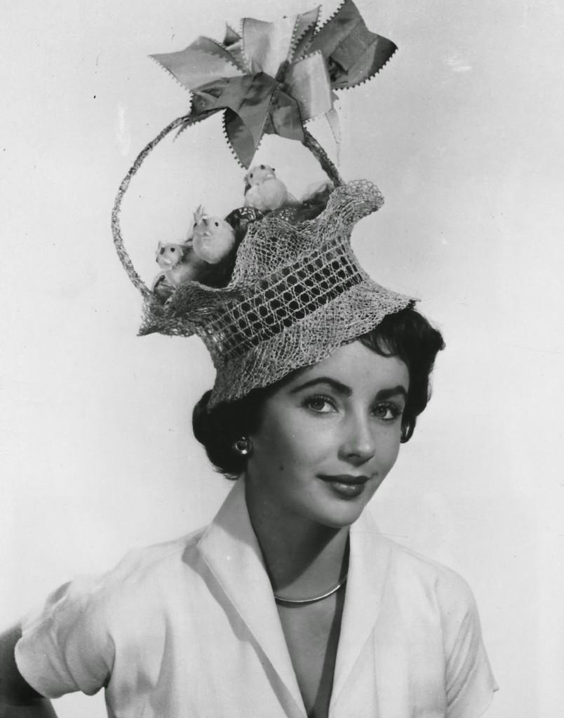 elizabeth taylor easter bonnet