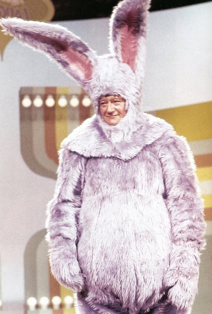 Even John Wayne likes the Easter Bunny