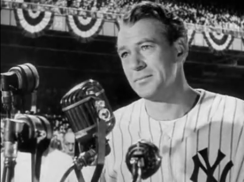 Gary Cooper in Pride of the Yankees