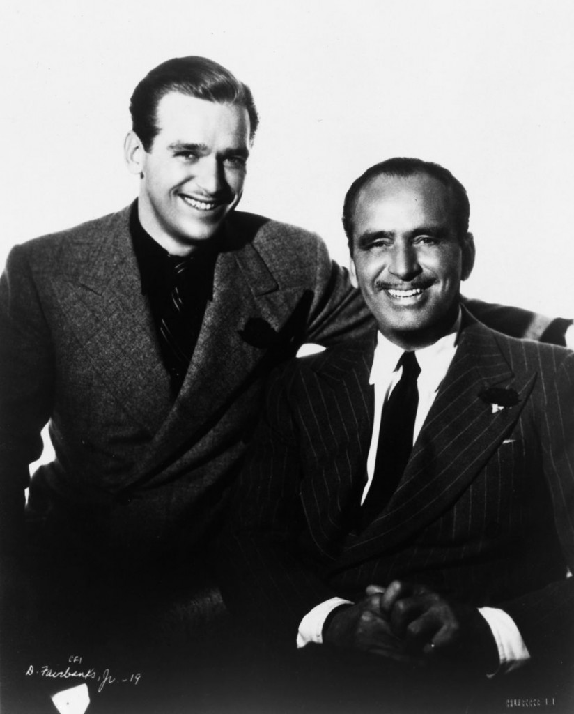 Father and Son, Douglas Fairbanks Sr and Jr