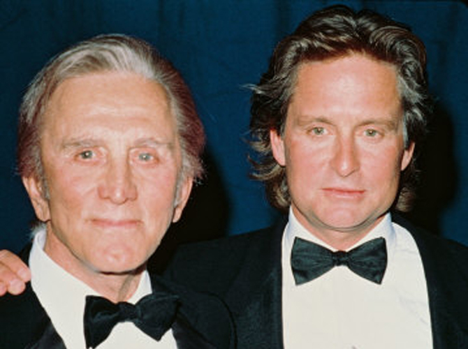 Father and Son Kirk Douglas and Michael Douglas