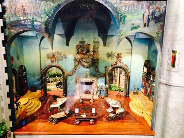 Library of Colleen Moore's Fairy Castle Doll House