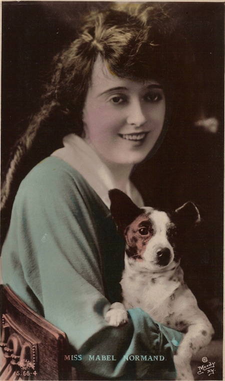 Mabel Normand with dog