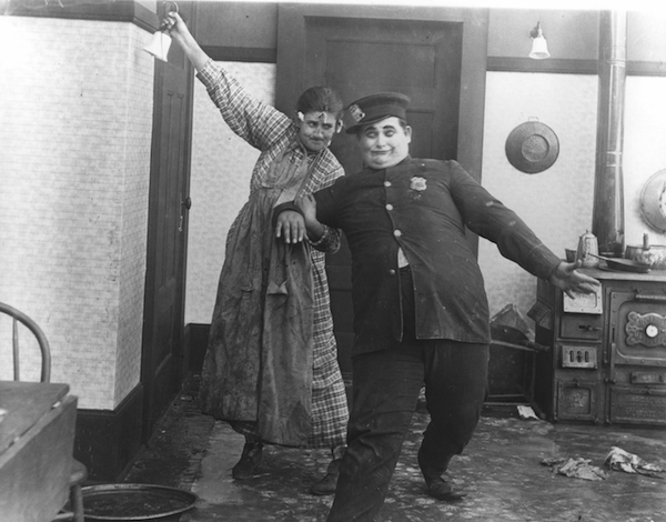 Jane Bernoudy as Sally Sloppus with soon to be director Edward Sedgwick in LIZZIE'S WATERLOO (1919).