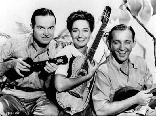 bob hope, bing crosby, dorothy lamour, road to rio