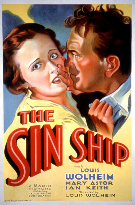 The Sin Ship poster, 1931