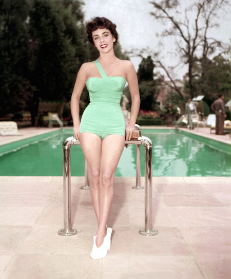 Elizabeth Taylor at pool
