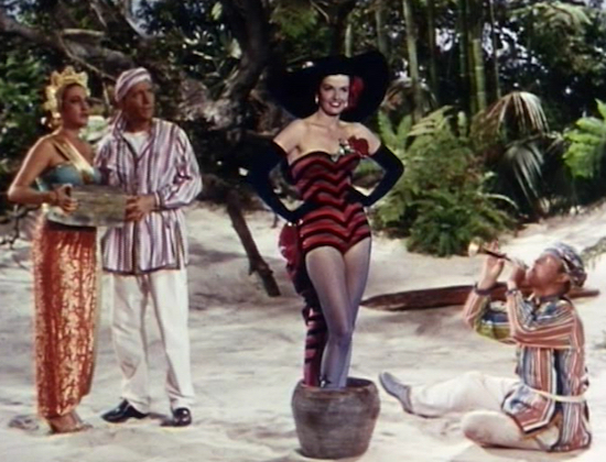 Dorothy Lamour, Bing Crosby, Jane Russell and Bob Hope, Road to Bali