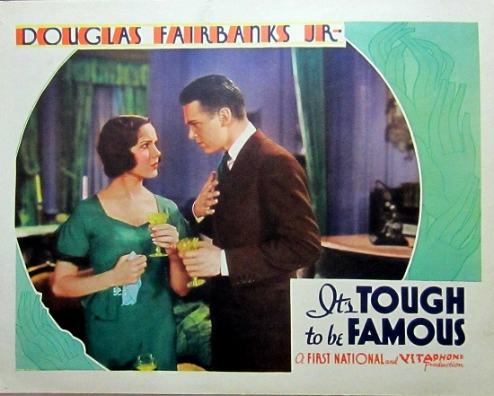 It's Tough to Be Famous 1932 movie poster