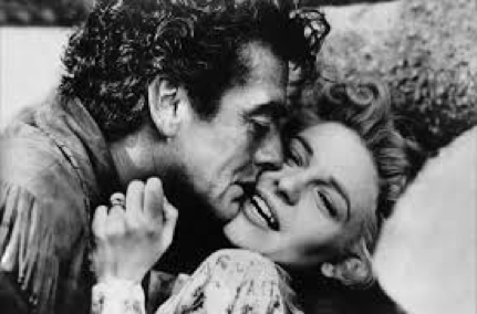 Victor Mature and Anne Bancroft in The Last Frontier