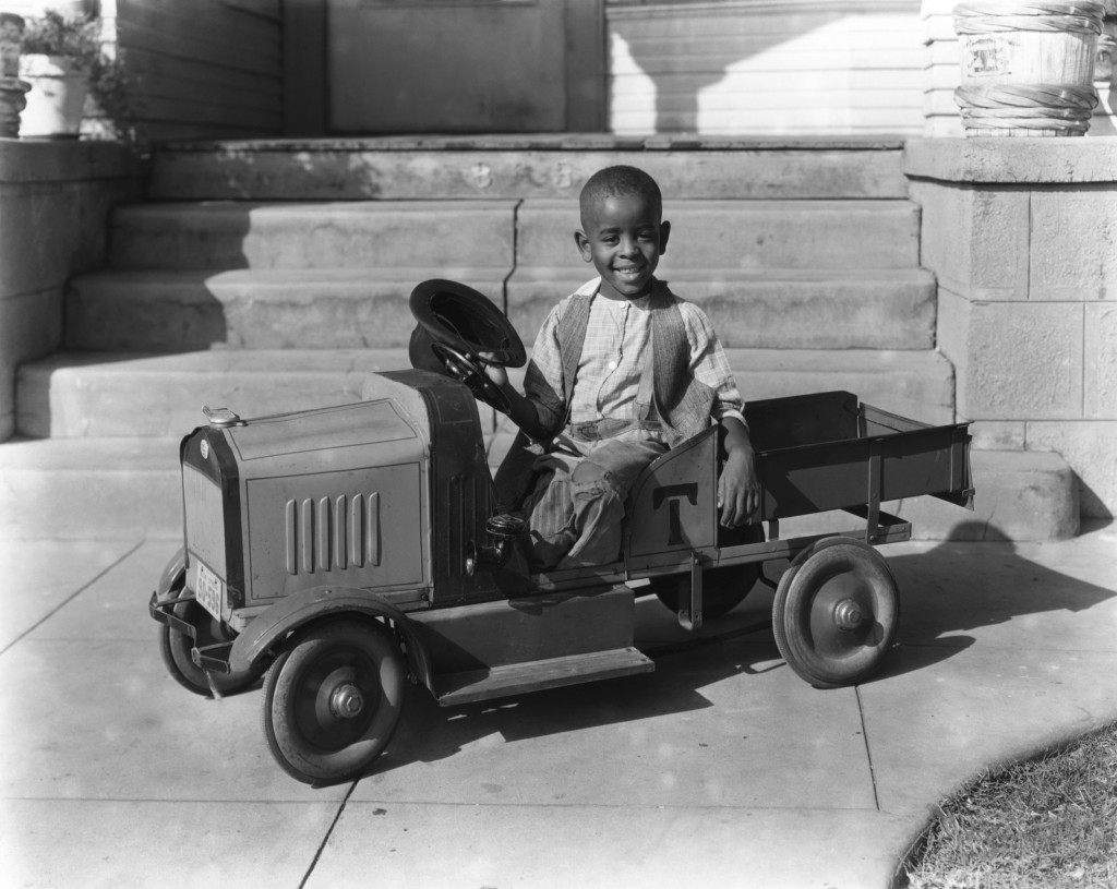 "Matthew ""Stymie"" Beard Jr. posing in his wonderful custom roadster truck"