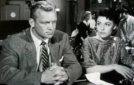 Anne Bancroft and Aldo Ray in Nightfall