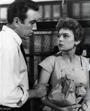 Anne Bancroft and Anthony Quinn in The Naked Street