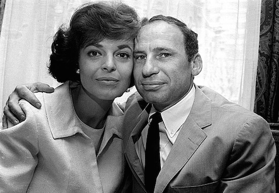 Anne Bancroft and Mel Brooks at the time of their marriage in 1964