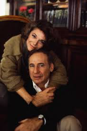 Anne Bancroft and Mel Brooks hugging