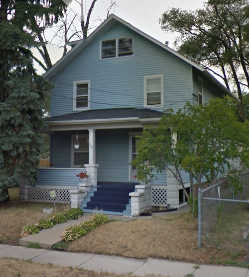 Barbara Hale childhood home 1428 Latham Place in Rockford Illinois