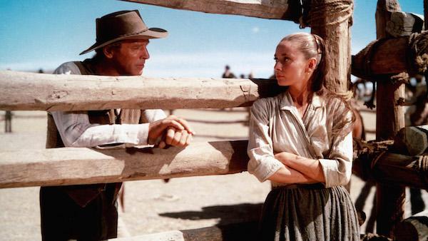 Audrey Hepburn and Burt Lancaster, The Unforgiven (1960, John Huston)