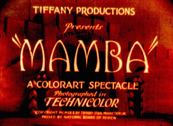 MAMBA 1930 Title Frame