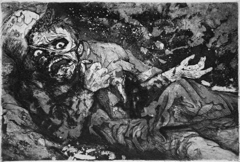 Otto_Dix_The Wounded Soldier_1917