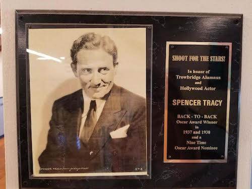 Spencer Tracy Plaque at Trowbridge Street Elementary School 1943 E Trowbridge St., Milwaukee, Wisconsin.