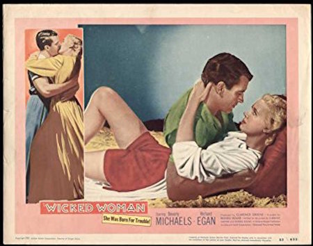 Wicked Woman 1953 Lobby Card
