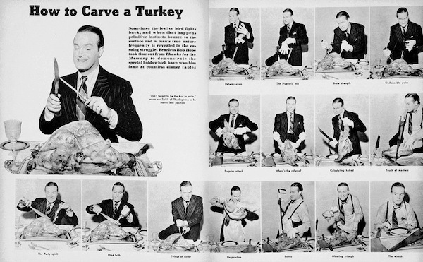 Bob Hope how to carve a turkey
