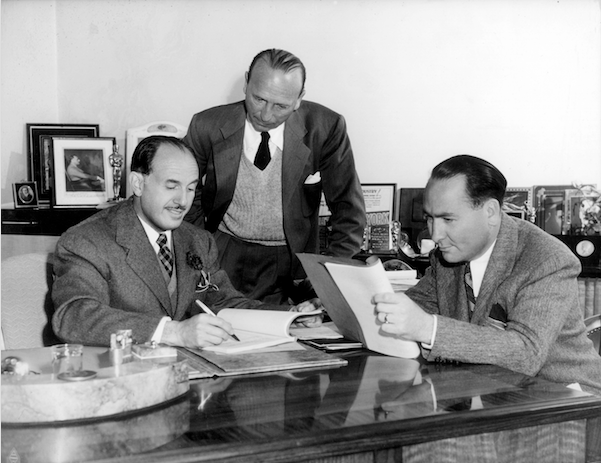 Jack Warner, Michael Curtiz and Hal Wallis
