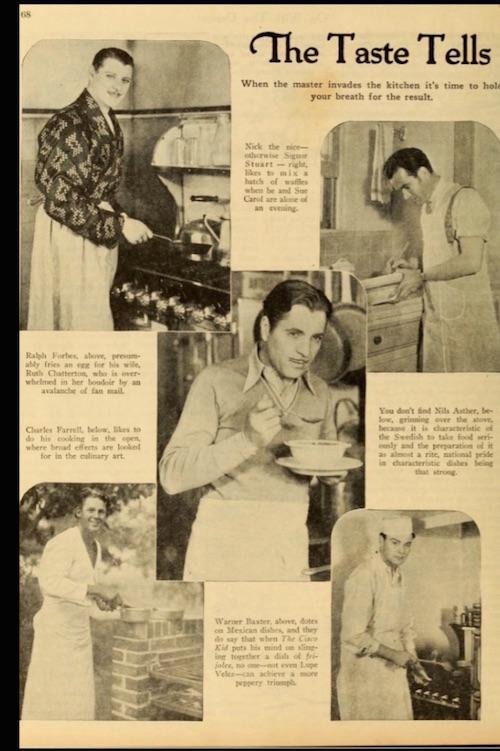 Men Stars Cook 1930