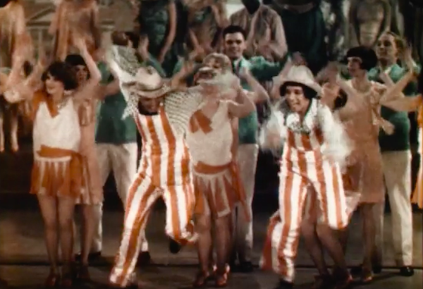 Technicolor fragment from ON WITH THE SHOW (WB:'29), the first all color talkie feature