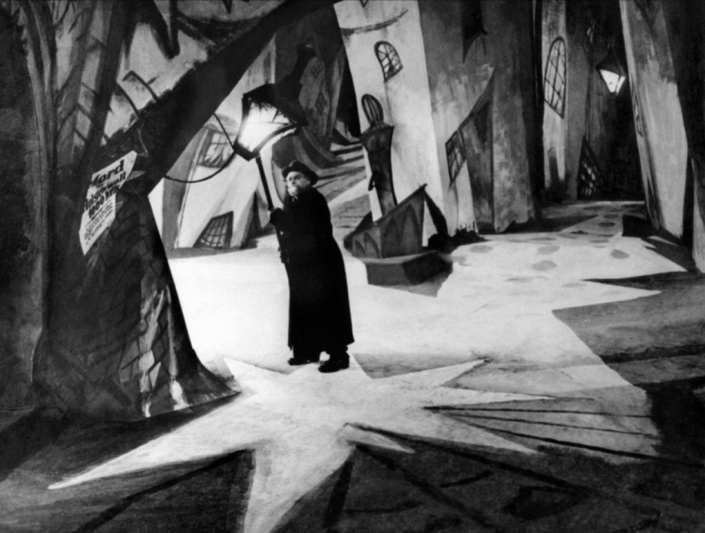 The Cabinet of Dr. Caligari set
