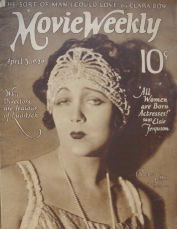 Barbara La Marr on the April 5, 1924, cover of Movie Weekly